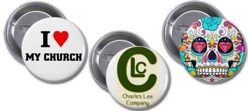 Custom printed button examples