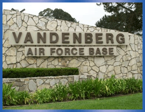 Monument sign of Vandenberg Air Force Base